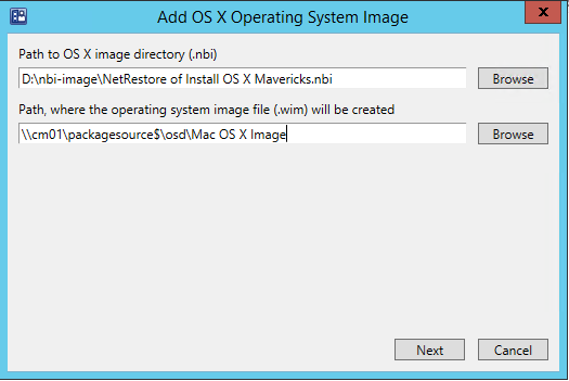 Adding a Mac Image to Configuration Manager 2012 R2