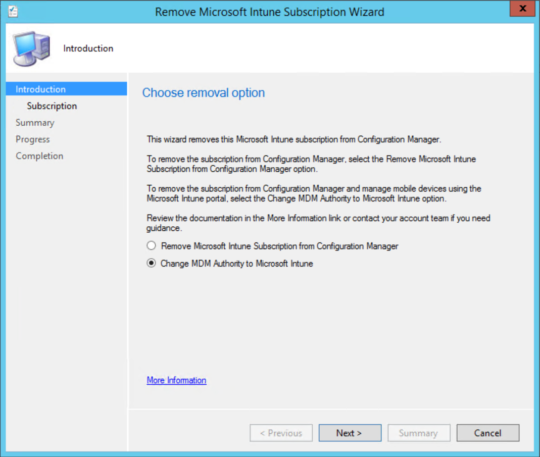Switching MDM authority to Intune standalone without user impact