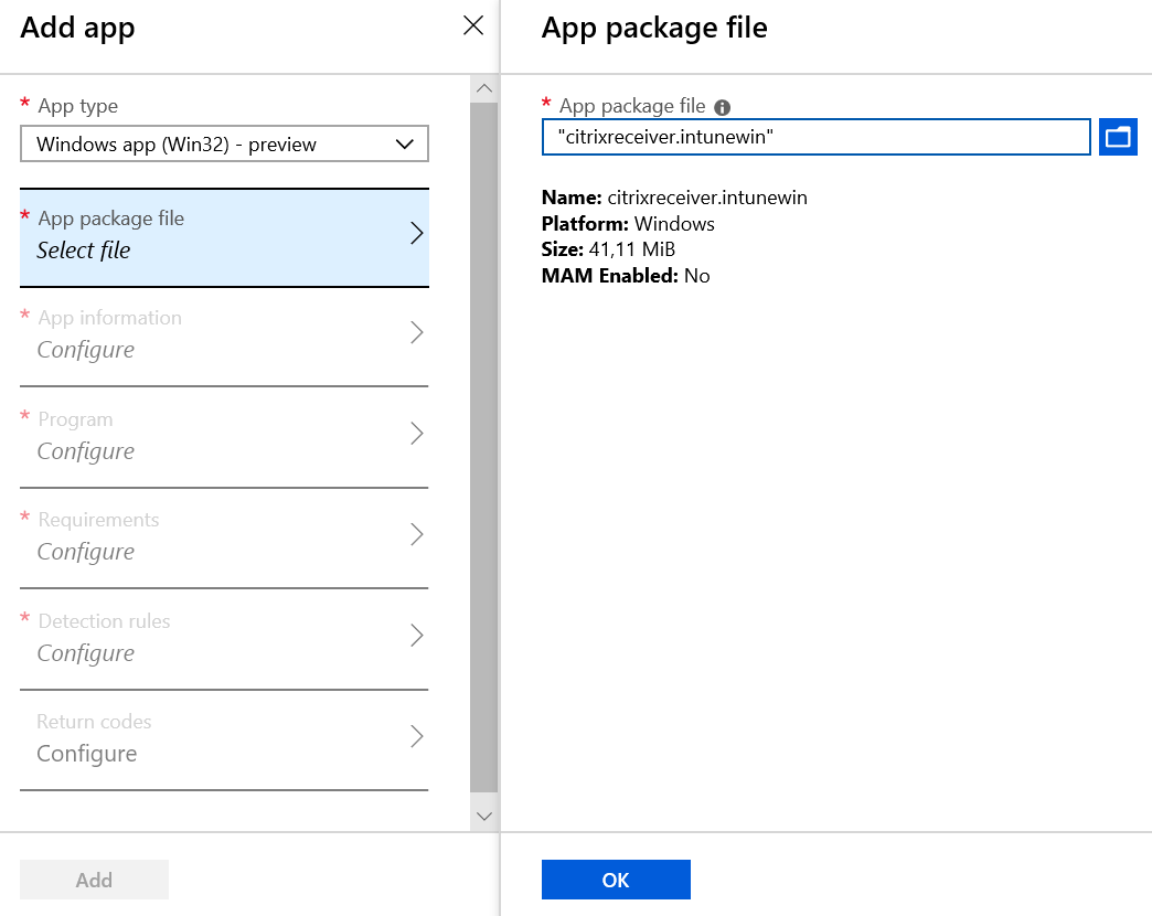 Deploying Citrix Receiver via native Win32 app support in Intune