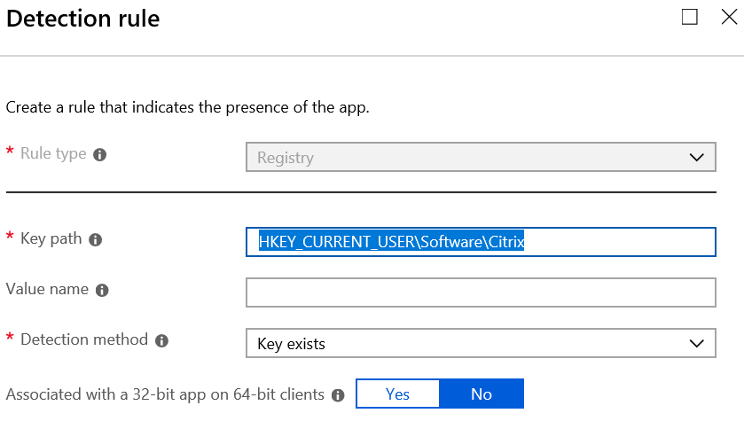 Deploying Citrix Receiver via native Win32 app support in