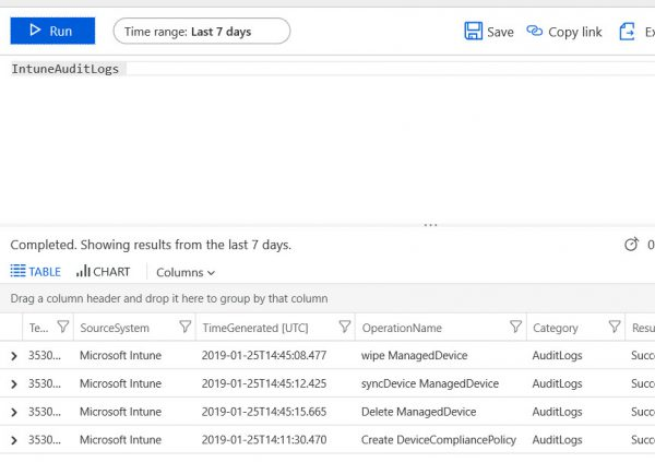 Log analytics (SIEM) integration with Intune available